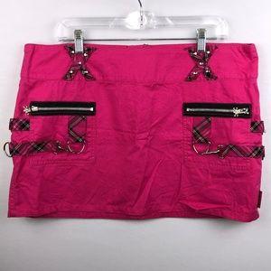 Tripp Pink Goth Gothic Punk Rock Skirt